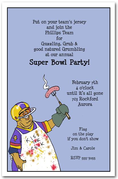 Football Chef Super Bowl Party Invitation