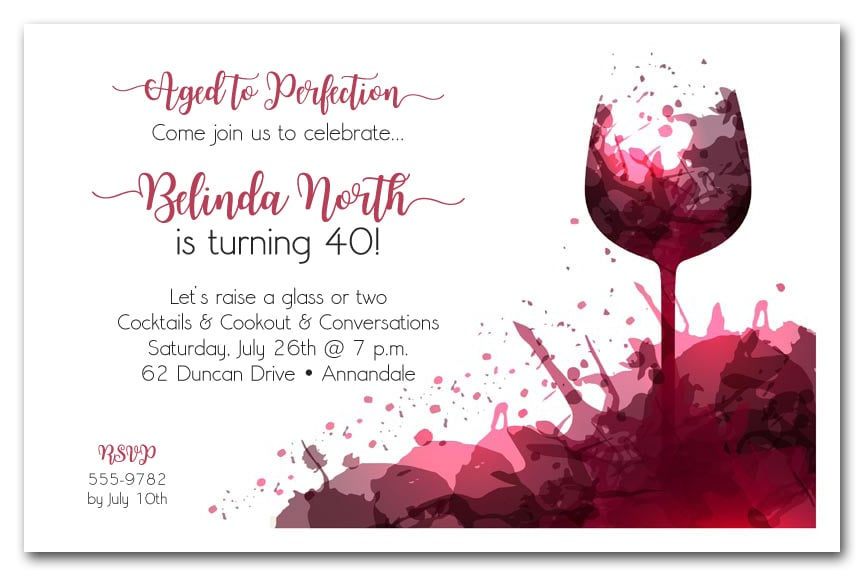 Wine Tasting Party Invitation Wording - Premium Invitation Template Design by 2 Feathers Tipi