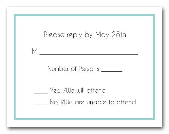 how to properly respond to a wedding rsvp
