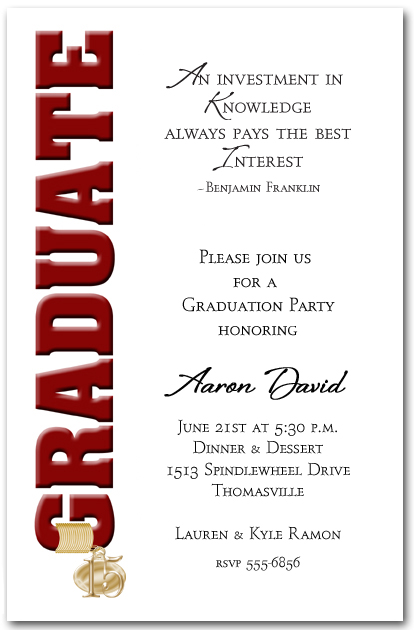 Wording For Graduation Party Invitations is the best ideas you have to choose for invitation example