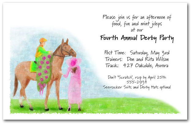 The Winner Horse Racing Invitations Kentucky Derby Party Invitations – Horse Party Invitations