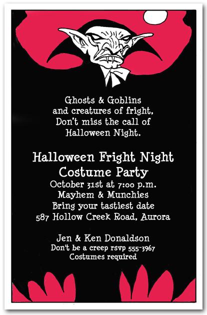 Halloween Potluck Invitation Wording with great invitations template