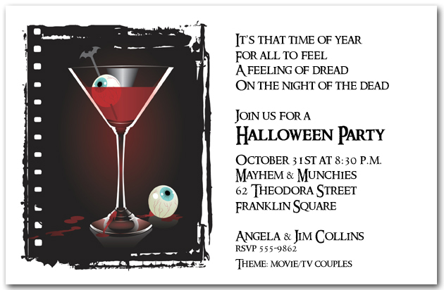 Images of Halloween Invitations – Halloween Party Invites Wording