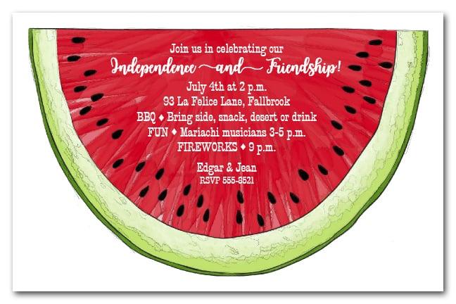 Watermelon Invitation Bbq Invitation Summer Invitations