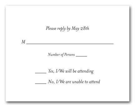 white rsvp cards white response cards white reply cards. Black Bedroom Furniture Sets. Home Design Ideas