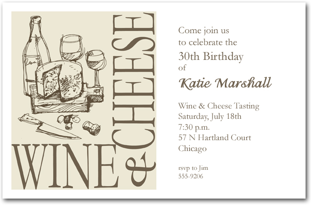 Wine And Cheese Party Invitations Gangcraft Net