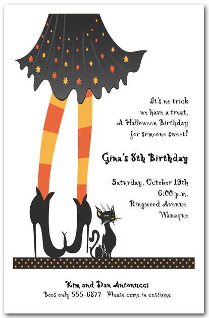 witches welcome halloween invitation witch halloween. Black Bedroom Furniture Sets. Home Design Ideas