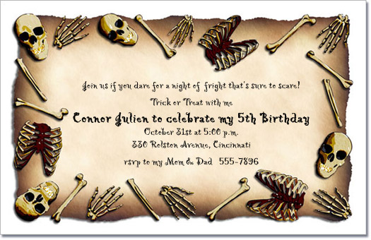 Bare Bones Pirate Birthday Invitation – Pirate Party Invite