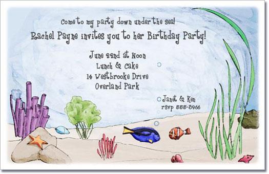 Ocean Friends Invitation Under the Sea Invitation Childrens – Ocean Party Invitations
