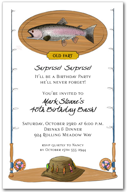 Fisherman Invitation Retirement Party Birthday Party – Fishing Party Invitations