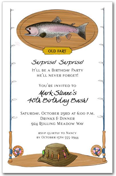 Fisherman Invitation Retirement Party Birthday Party