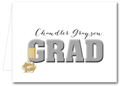 Note Cards: Silver Grad & Charm