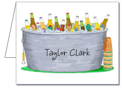 Note Cards: Bucket of Bottles
