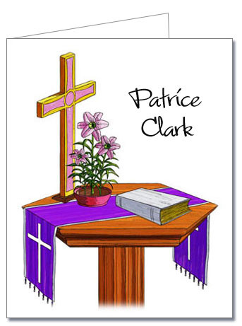 Note Cards: Communion Table Pink