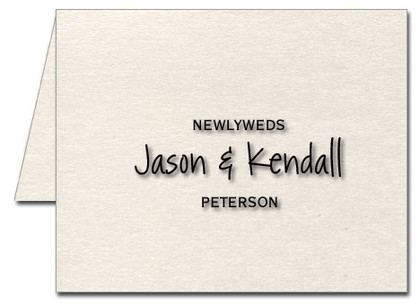 Note Cards: Newlywed