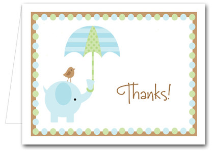 Note Cards: Blue Elephant Shower