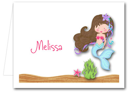 Note Cards: Brunette Mermaid