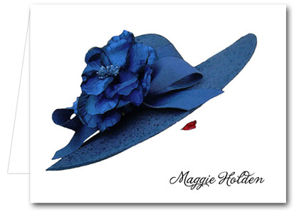 Note Cards: Floral Blue Hat