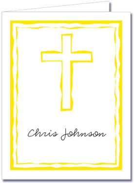 Abstract Cross Yellow Notes