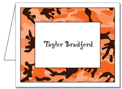 Note Cards: Halloween Camo