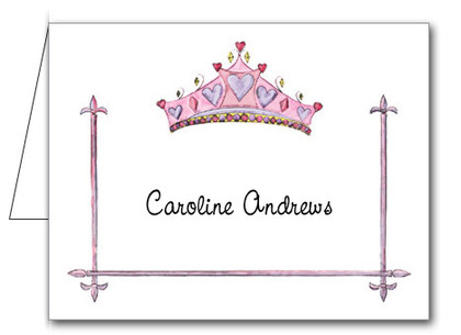 Note Cards: Crowned Pink