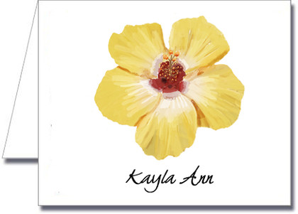 Note Cards: Yellow Hibiscus