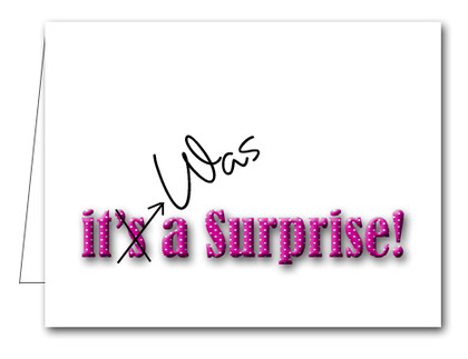Note Cards: Pink Dot Surprise Party