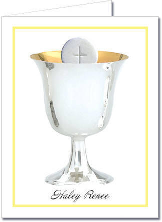 Note Cards: Silver Chalice Yellow