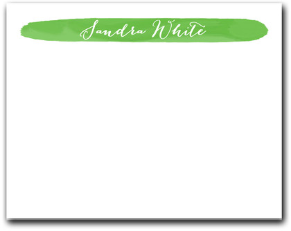 Brushed Lime Green Flat Note