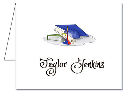 Note Cards: Blue-Red Graduation