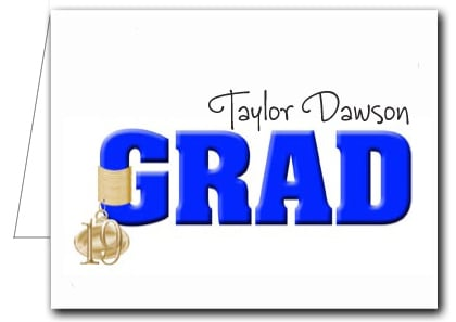 Note Cards: Blue Grad & Charm