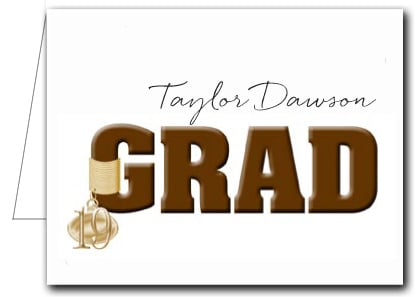 Note Cards: Brown Grad & Charm