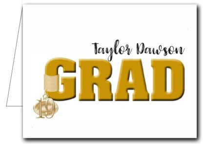 Note Cards: Gold Grad & Charm