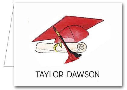 Note Cards: Red-Black Graduation