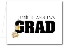 Note Cards: Black Grad & Charm