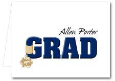 Note Cards: Navy Grad & Charm