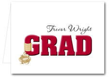 Note Cards: Red Grad & Charm
