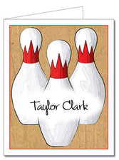 Note Cards: Bowling Pins