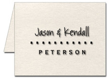 Note Cards: Wedding - Dashes
