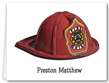 Note Cards: Fireman Hat