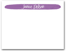 Brushed Purple Flat Note