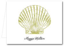 Note Cards: Gold Seashell
