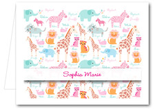 Note Cards: Girls My Zoo