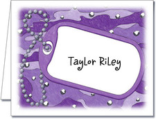 Note Cards: Dog Tag Purple