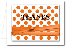 Ribboned Orange Dots Notes