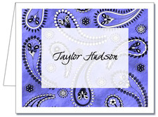 Note Cards: Paisley Blue