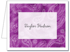 Note Cards: Paisley Light Purple