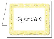 Note Cards: Stitched Yellow
