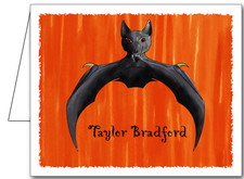 Note Cards: Sunset Bat