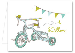 Note Cards: Blue Tricycle